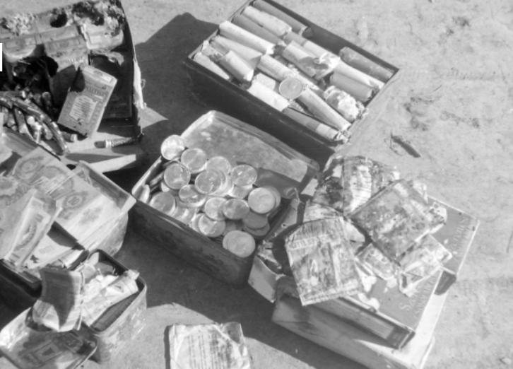 A kép illusztráció. Egy házkutatás eredménye, forrás: Magyar Rendőr / Fotó: Magyarrendor.osaarchivum.org