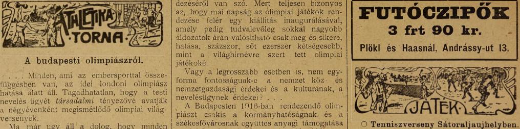 A budapeti olimpiász / Forrás: Arcanum.hu