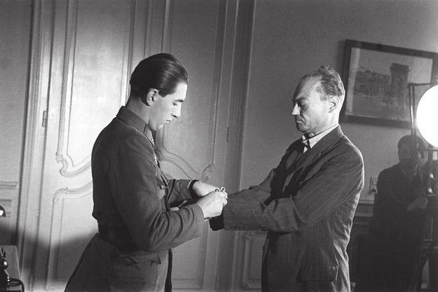 Vágó Pál egykori nyilas képviselőtársa, Hubay Kálmán Péter Gáborhoz érkezik kihallgatásra / Fotó: MTI