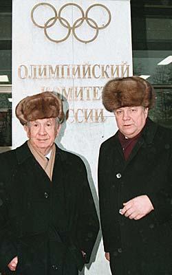 Samaranch (balra) Moszkvában / Forrás: TV2.no