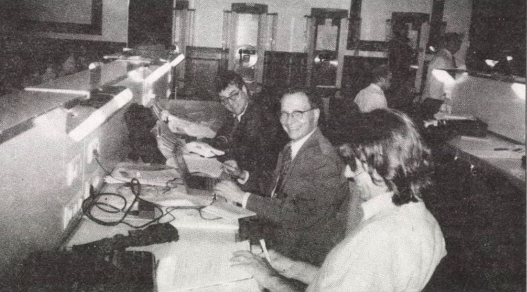 1996-ban Dési András (középen) Berlinből tudósít / Forrás: Arcanum.hu