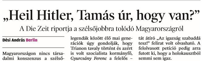 Heil Hitler / Forrás: Arcanum.hu