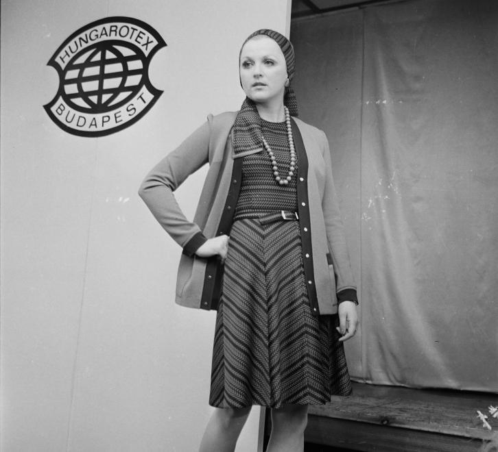 Hungarotex, divatbemutató a hetvenes évekből / Fotó: Fortepan.hu