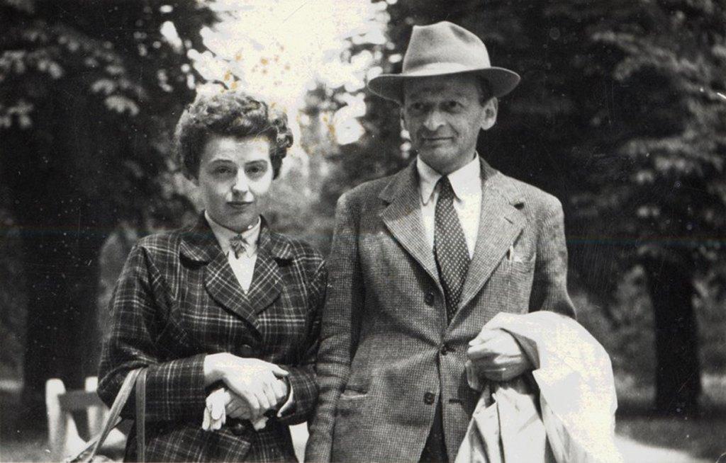 Mátay Florence és Ignotus Pál a házasságkötésük napján / Forrás: Petőfi Irodalmi Múzeum