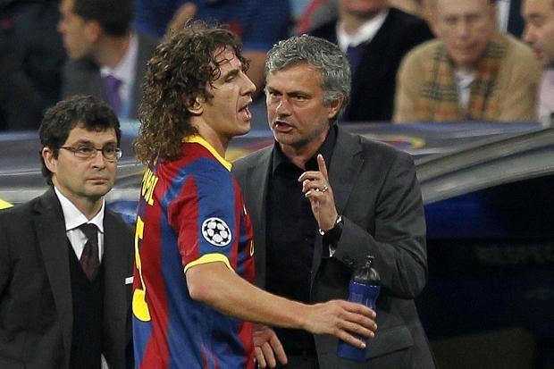Puyol és Mourinho / Fotó: Marca.com