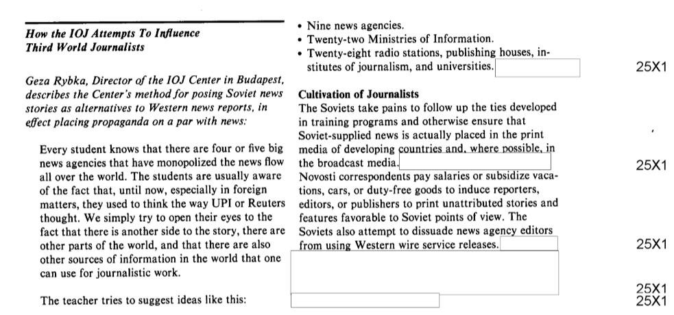 A CIA jelentése Rybkáról és a NÚSZ-ról / Forrás: CIA.gov.hu