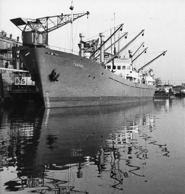 A MAHART egyik hajója / Fotó: Fortepan.hu