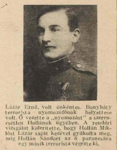 Lázár Ernő a korabeli újságban / Forrás: Arcanum.hu