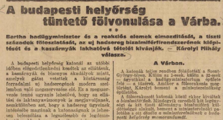 A Népszava korabeli cikke /Forrás: Arcanum.hu