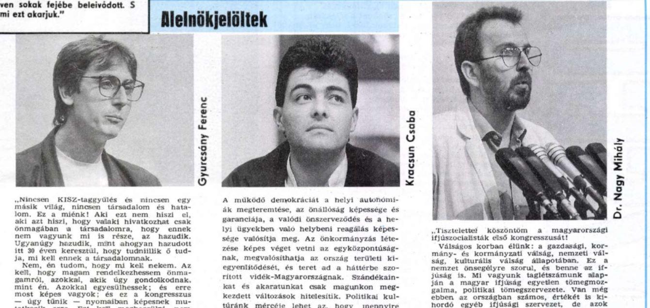 Ez már a DEMISZ! Fotó: Magyar Ifjúság/Arcanum.hu
