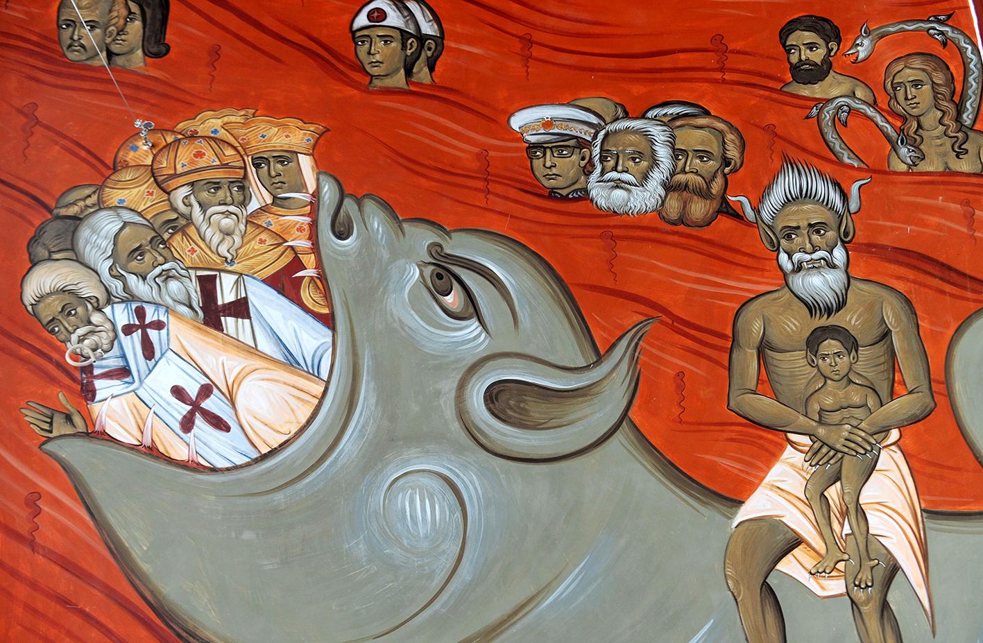 Freskó egy szerb templomban / Forrás: Catholicherald.co.uk