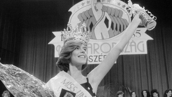 Molnár Csilla, az 1985-ös szépségverseny győztese / Fotó: MTI