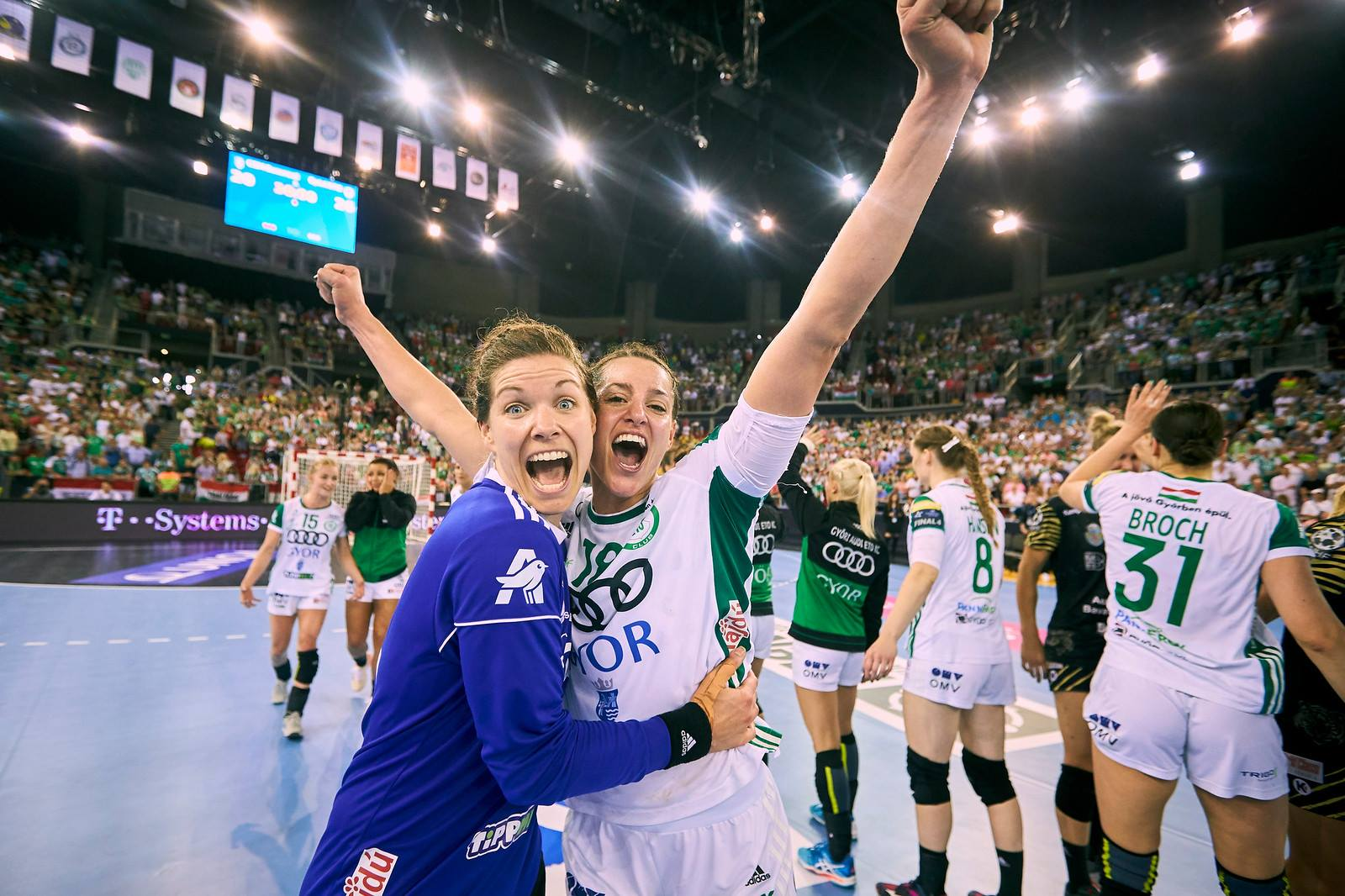 Győri öröm / Fotó: EHF/Facebook