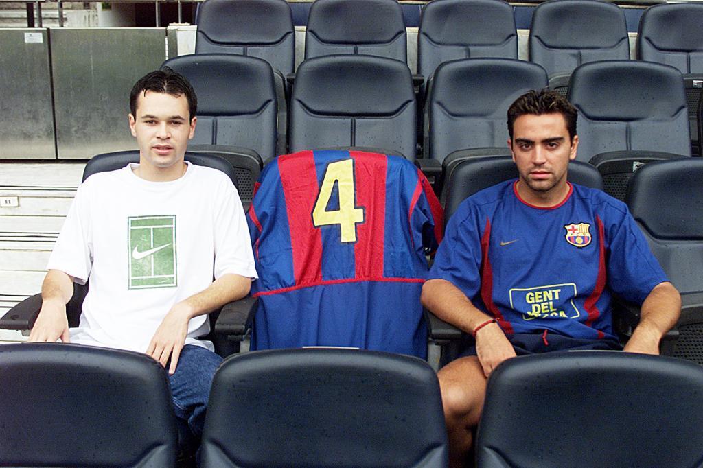 Régi fotó, Iniesta és Xavi / Fotó: Marca.com