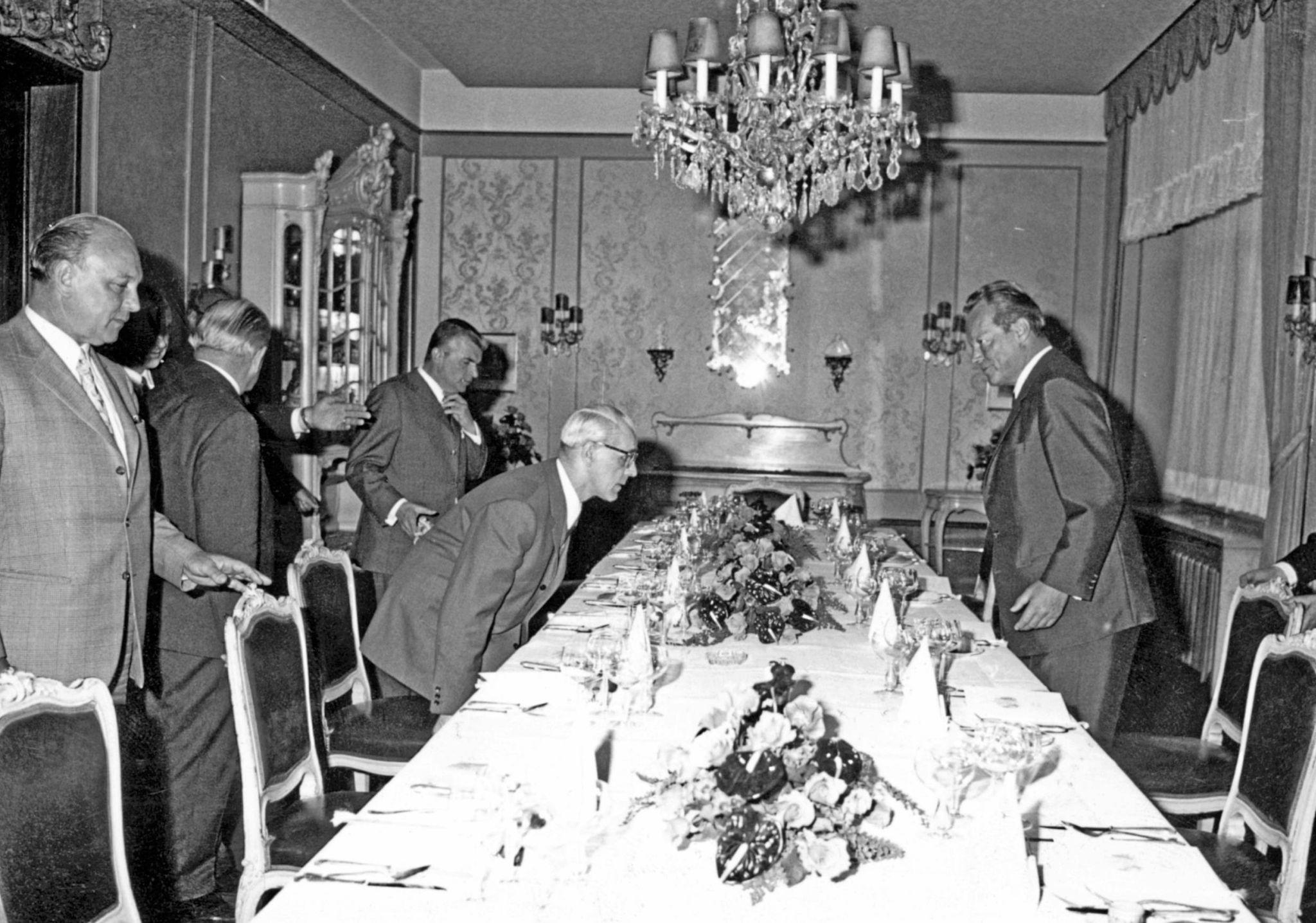 Willy Brandt és Willi Stoph Kasselben / Fotó: Hna.de