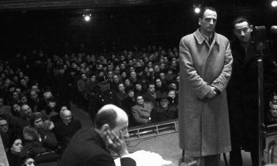 Edmund Veesenmayer, Hitler teljhatalmú megbízottja, az Imrédy- per tanúja /világos kabátban/ / Fotó: MTI