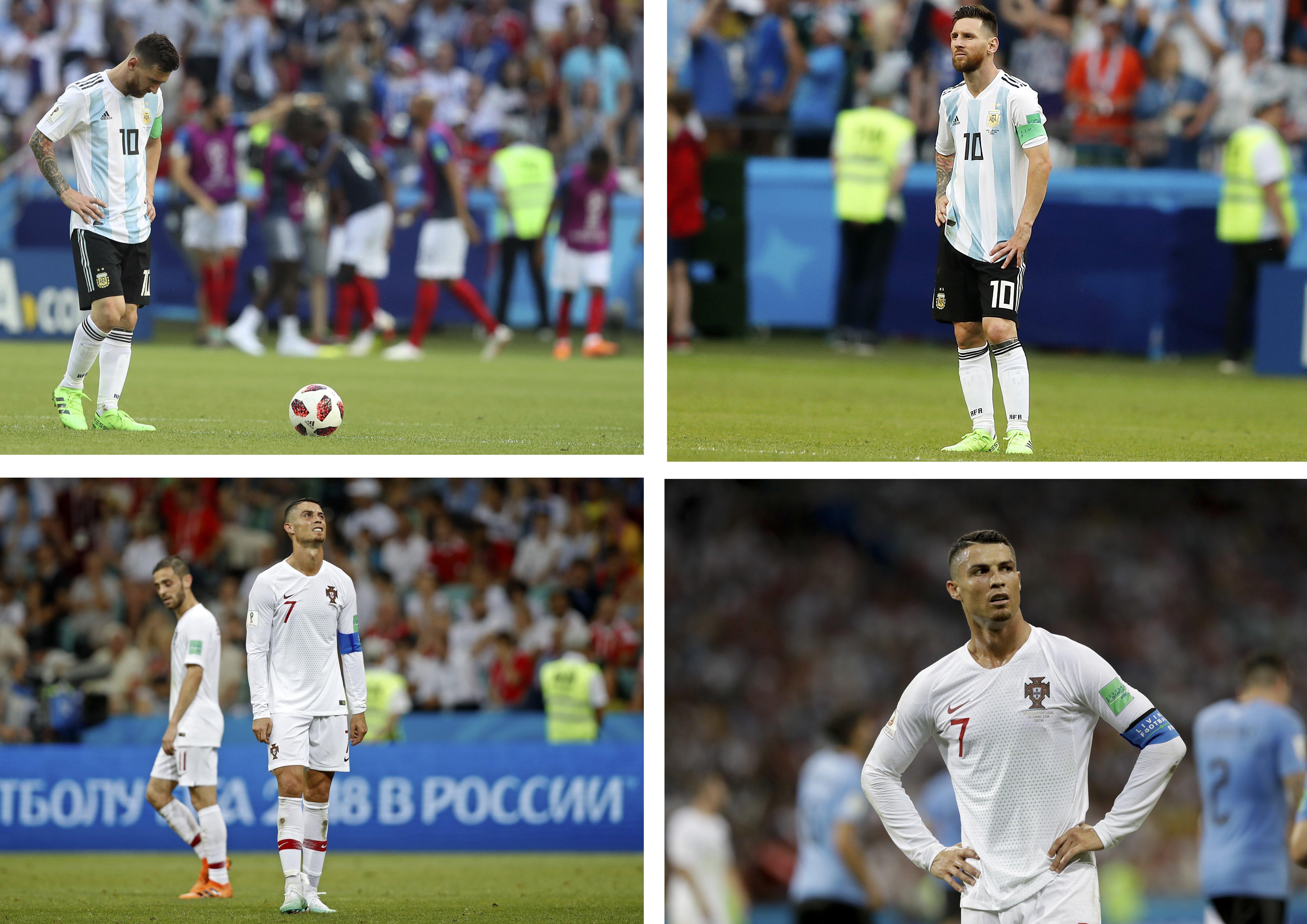 Messi és C. Ronaldo / Fotó: MTI/EPA