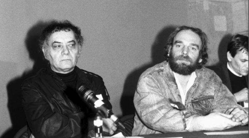 Csoóri Sándor, Csengey Dénes és Lezsák Sándor az MDF ülésén /Fotó: MTI