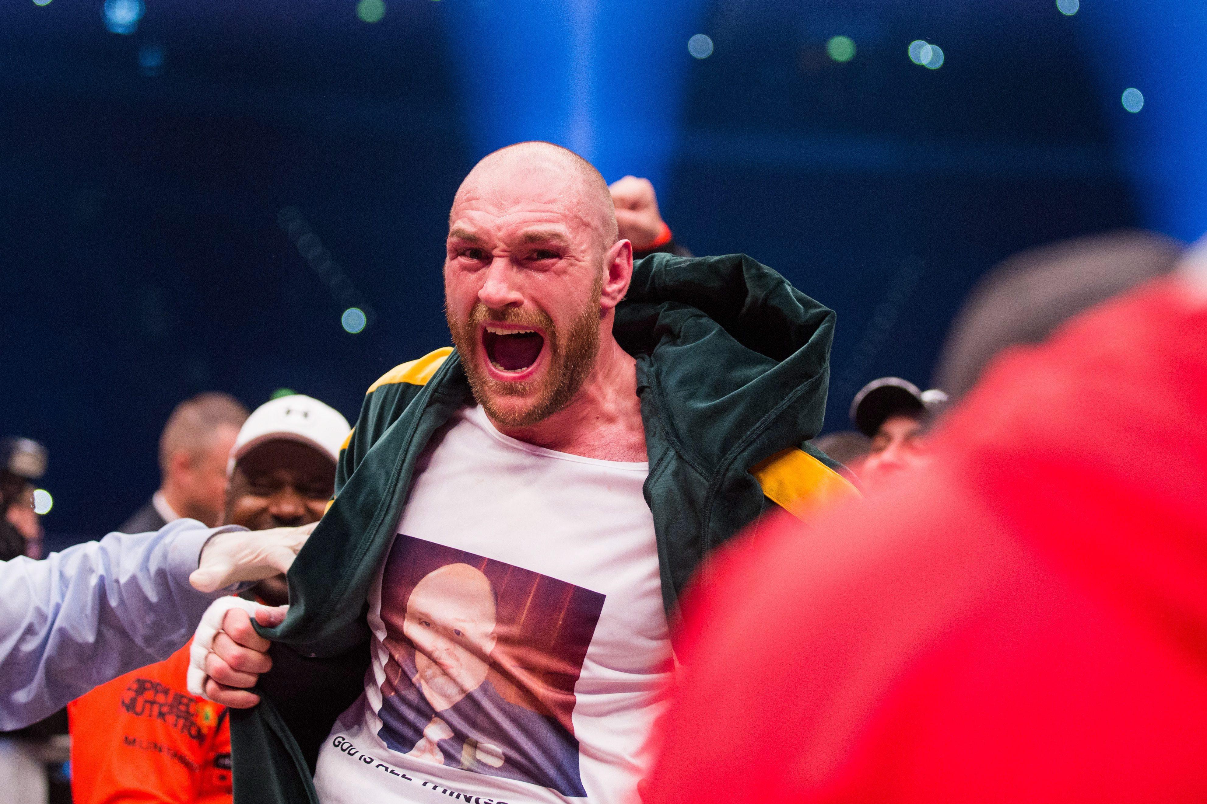 Fury a Klicskó elleni győzelem után / Fotó: MTI/EPA/Rolf Vennenbernd