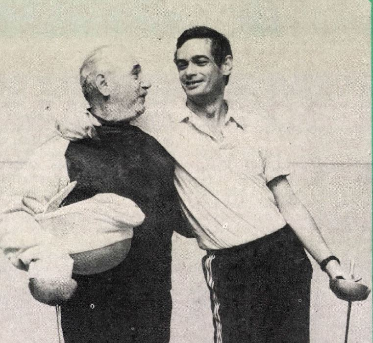 Atya és fia / Forrás: Arcanum.hu/Képes Sport