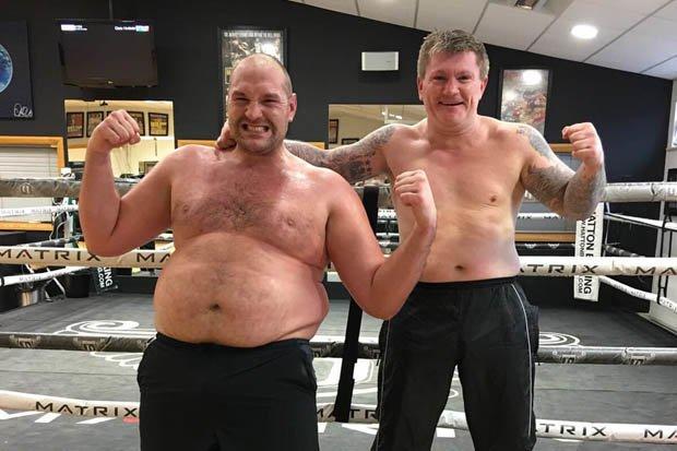 Fury edzés előtt / Fotó: Boxingscene.com