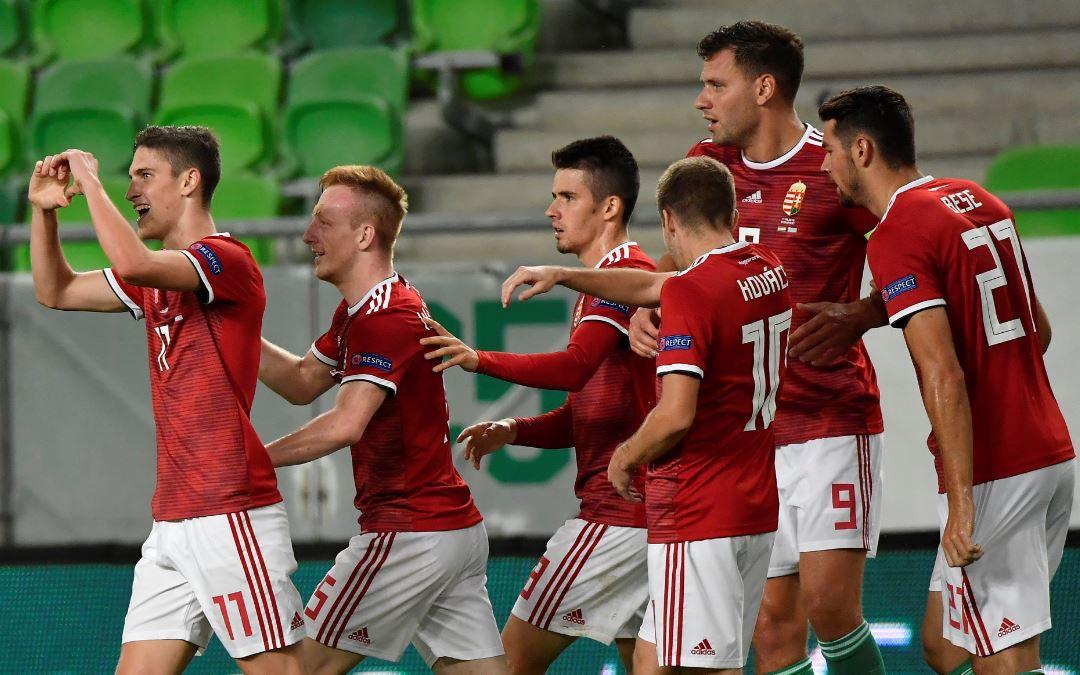 Öröm az első gól után / Fotó: MTI