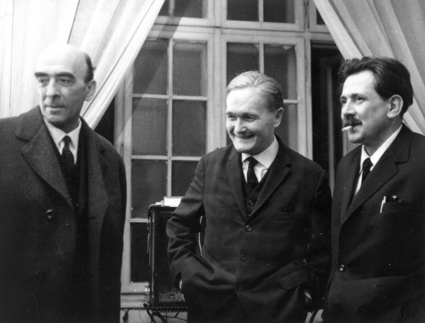 Major, Németh László író és Aczél György / Fotó: Fortepan.hu