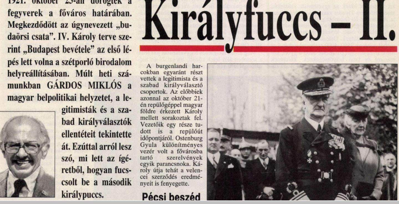 Gárdos elvtárs Királyfuccsa / Forrás: 168 óra, Arcanum.hu