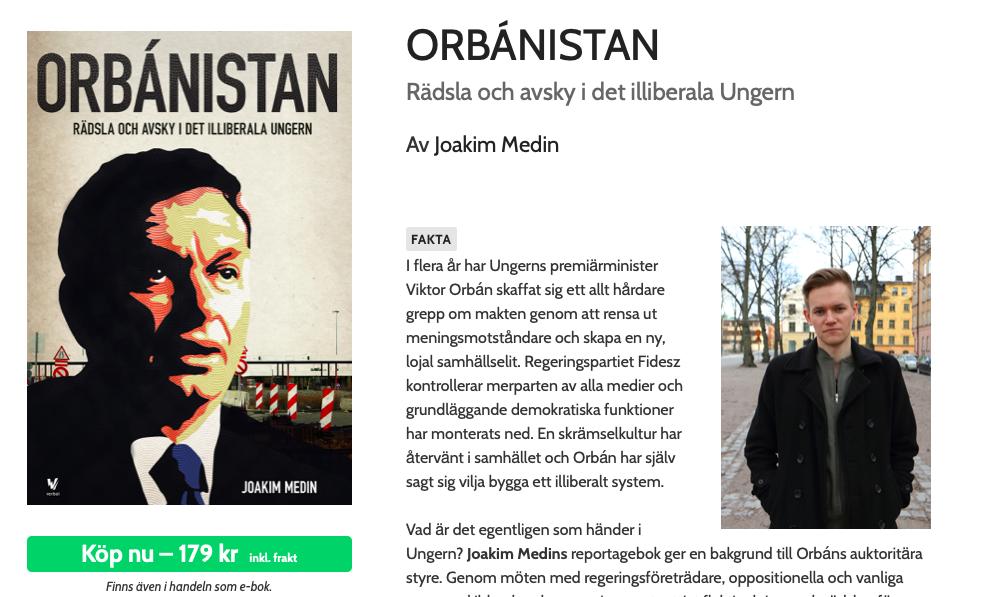 """f1c7dcd8c09e Egy szélsőséges svéd antifa írt uszító könyvet Orbán Viktor """"diktatúrájáról"""""""