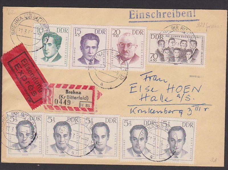 Alpári (avagy Julius Alpári) a bélyegen (fenti sor, balról a harmadik) egy NDK-s levelezőlapon / Forrás: Img.oldthing.net