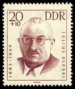 Julius Alpari a bélyegen