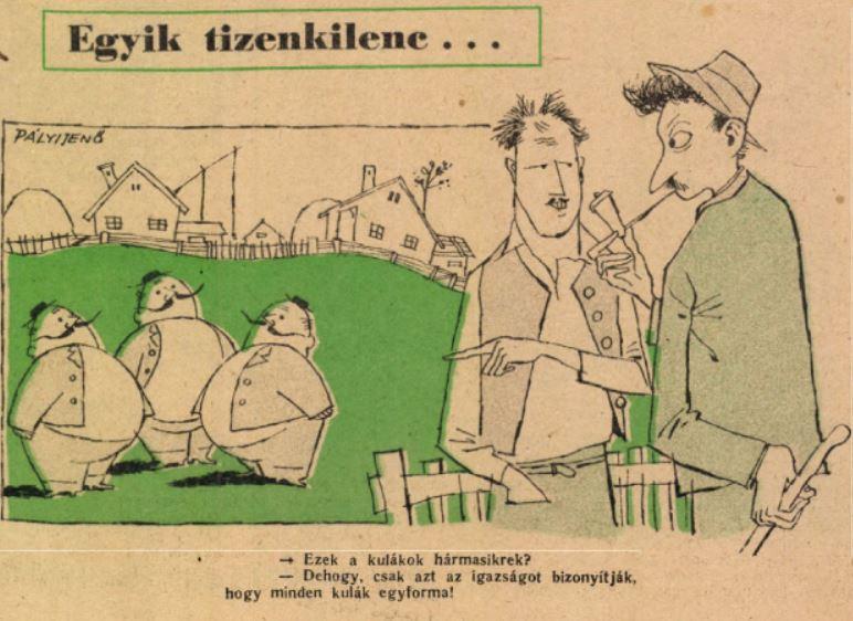 Karikatúra a Ludas Matyiból / Forrás: Arcanum.hu