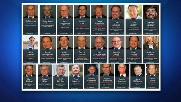 Alabamában az abortusz törvényt megszavazó szenátorok – fotó: ABC