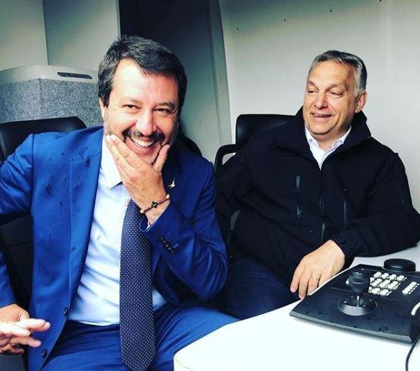 Matteo Salvini a Twitter-oldalán tette közzé a magyar határon tett látogatásán készült fotókat