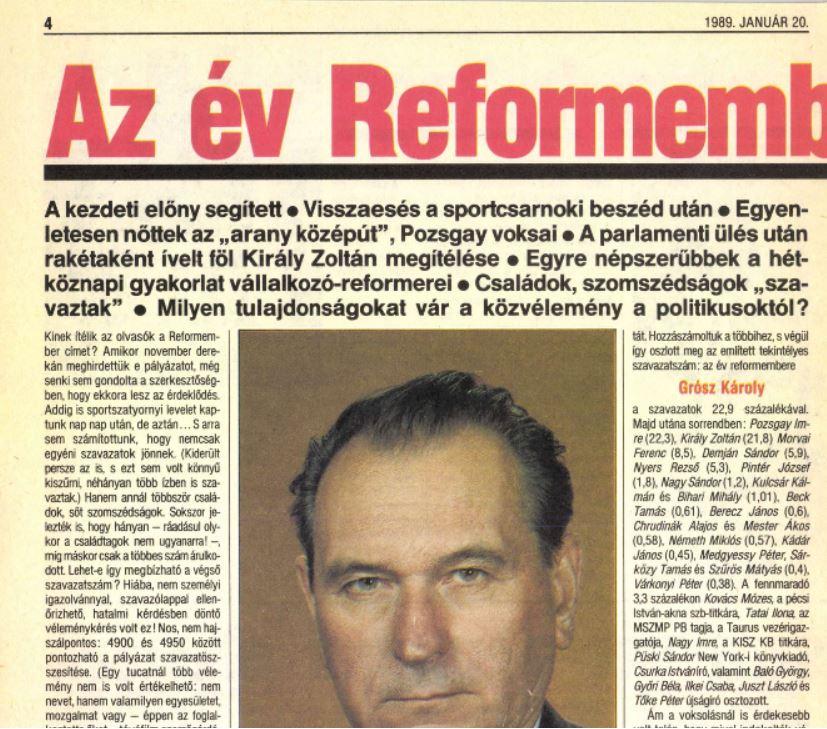 Az év Reformembere - a csodás, független Reformban / Fotó: Reform/Arcanum.hu