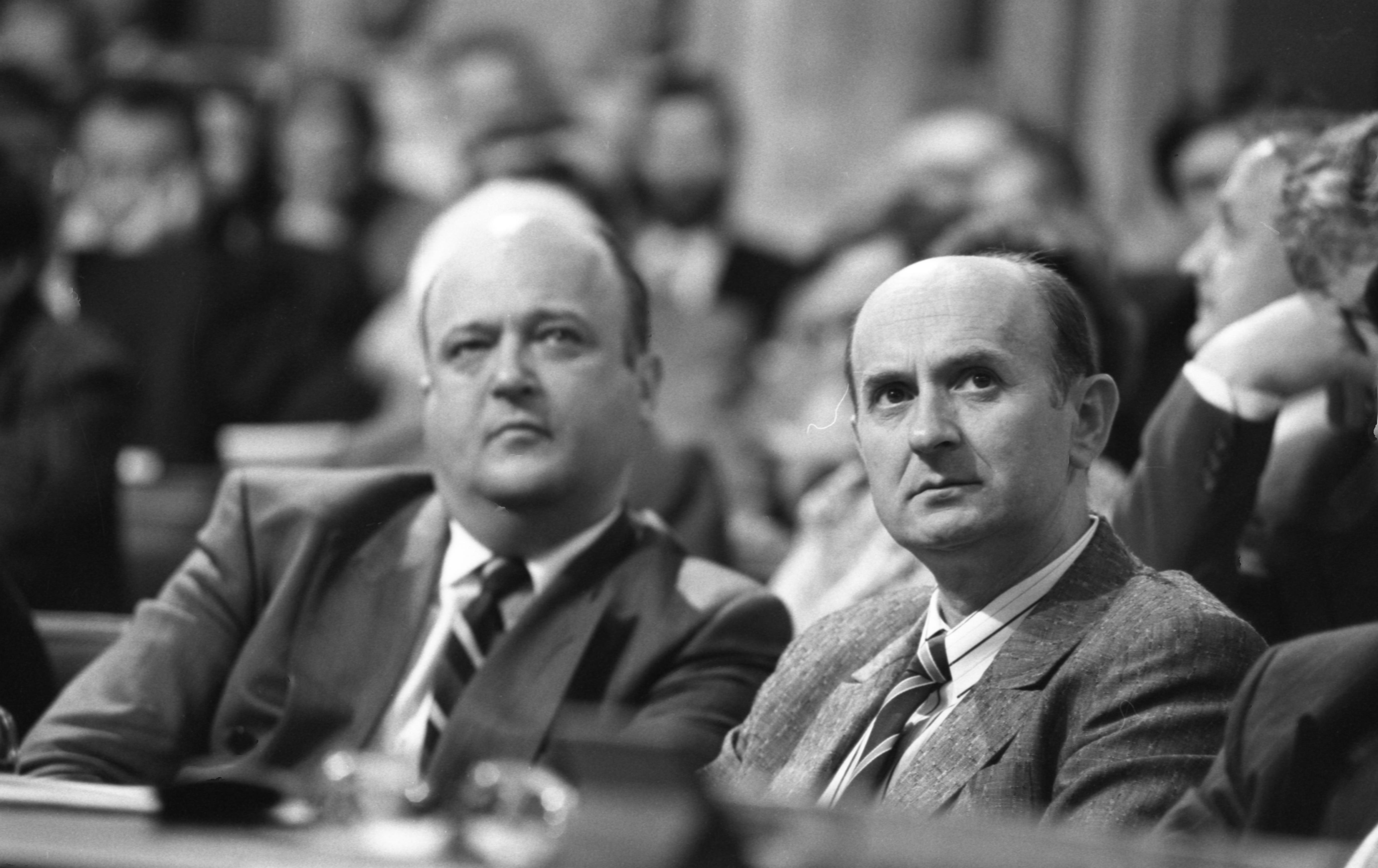 1990, Kemenes Ernő és Békesi László / Fotó: Fortepan.hu, adományozó: Szalay Zoltán