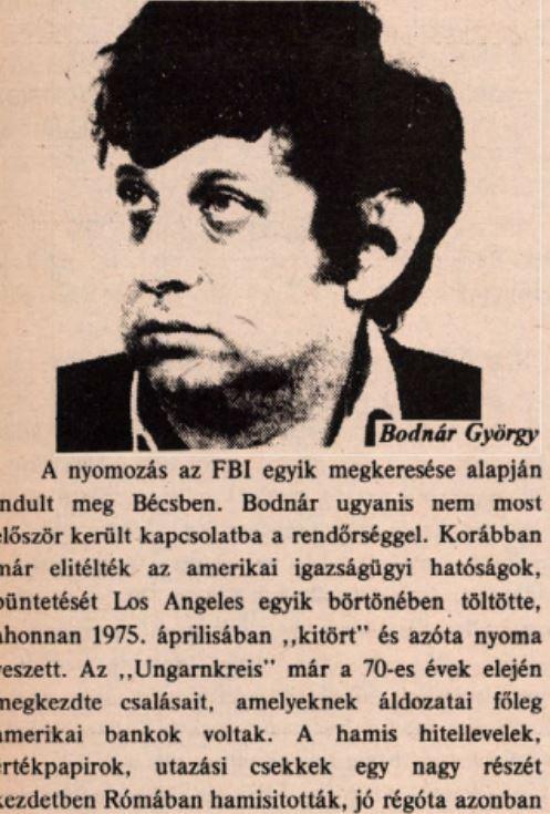 Bodnár György az Amerikai Magyar Népszavában / Forrás: Arcanum.hu