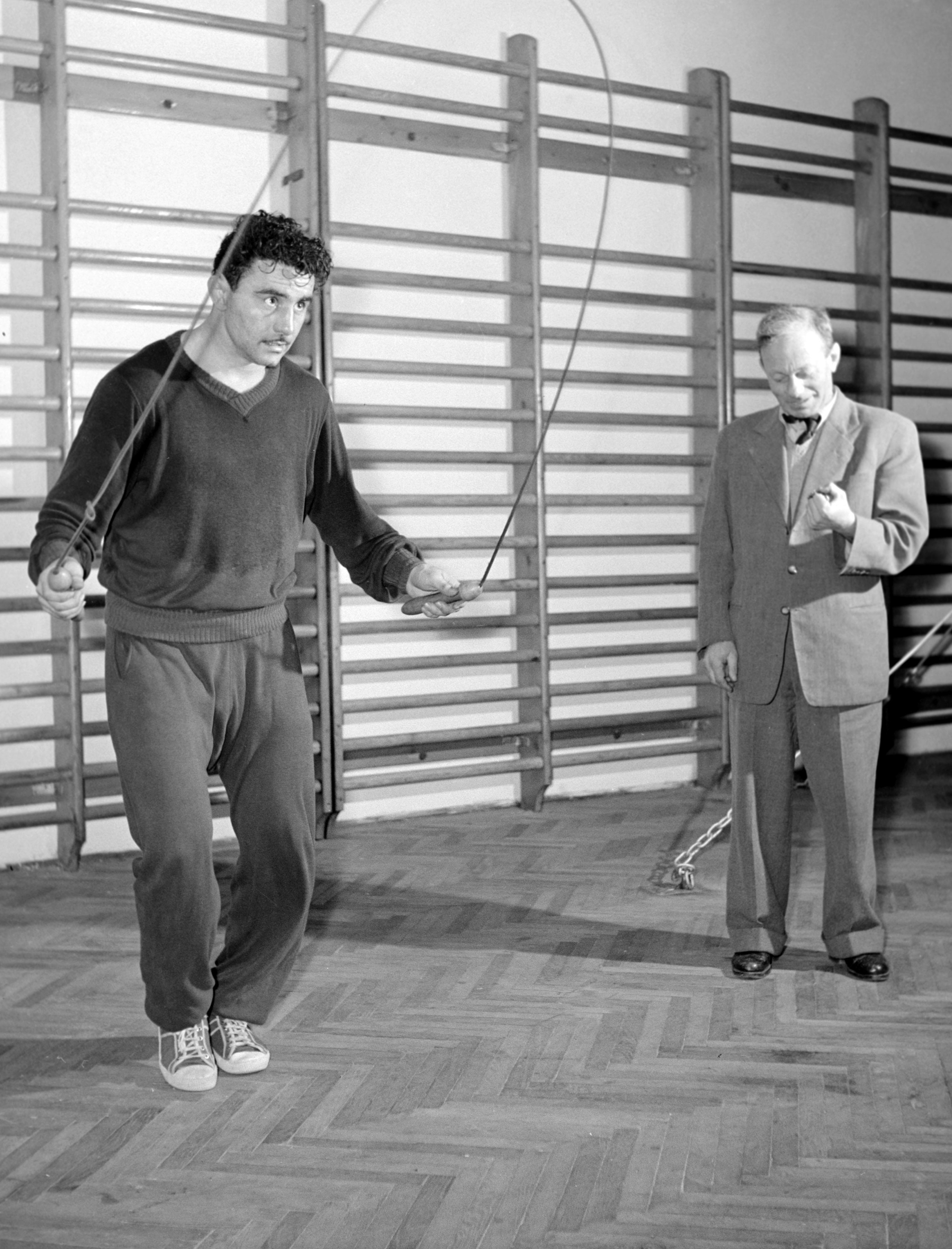 Papp László és Adler Zsigmond, már 1958-ban / Fotó: MTI