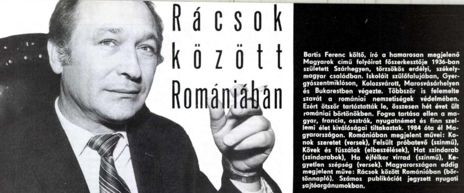Bartis Ferenc könyvének reklámja a Magyar Ifjúságban / Forrás: Arcanum.hu