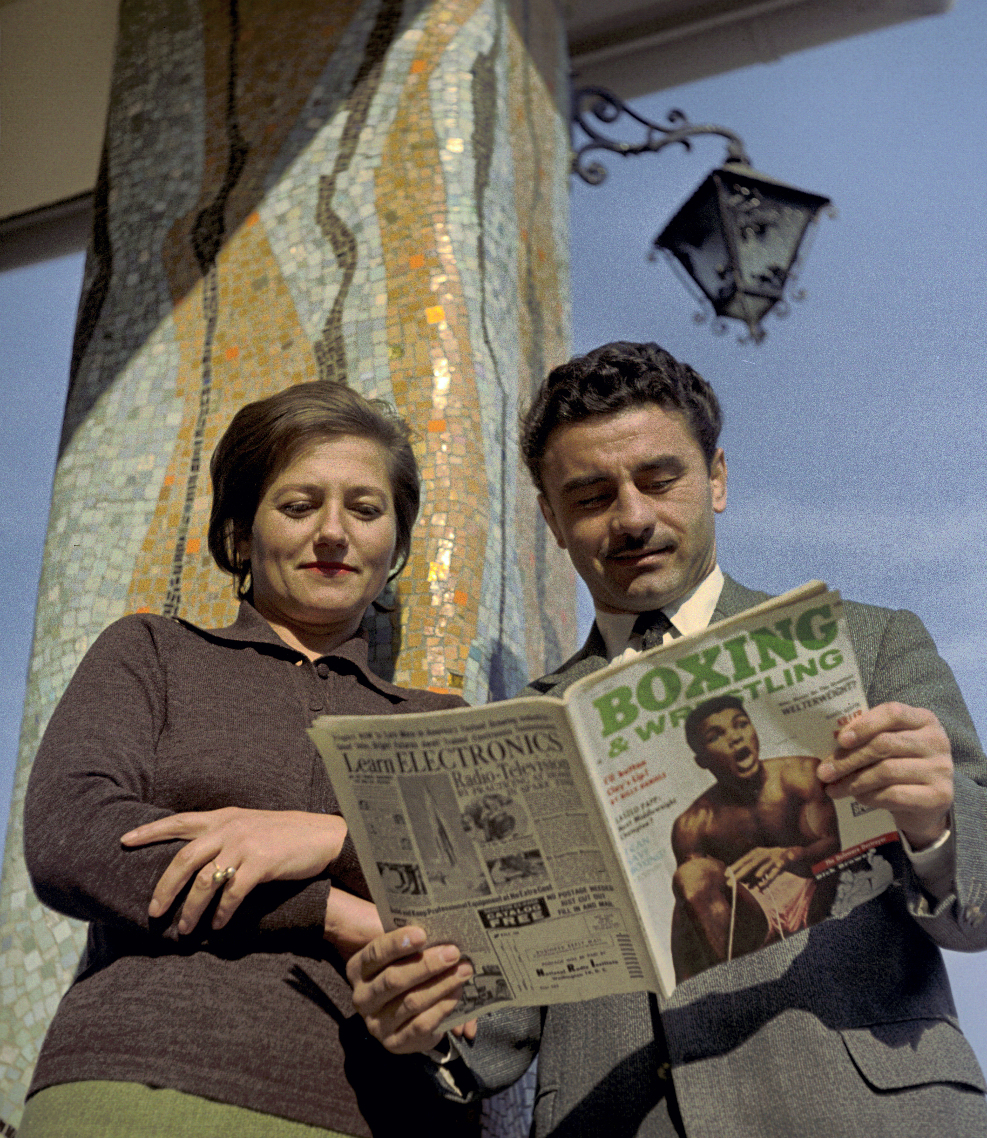 Papp László feleségével, a hatvanas évek közepén / Fotó: MTI