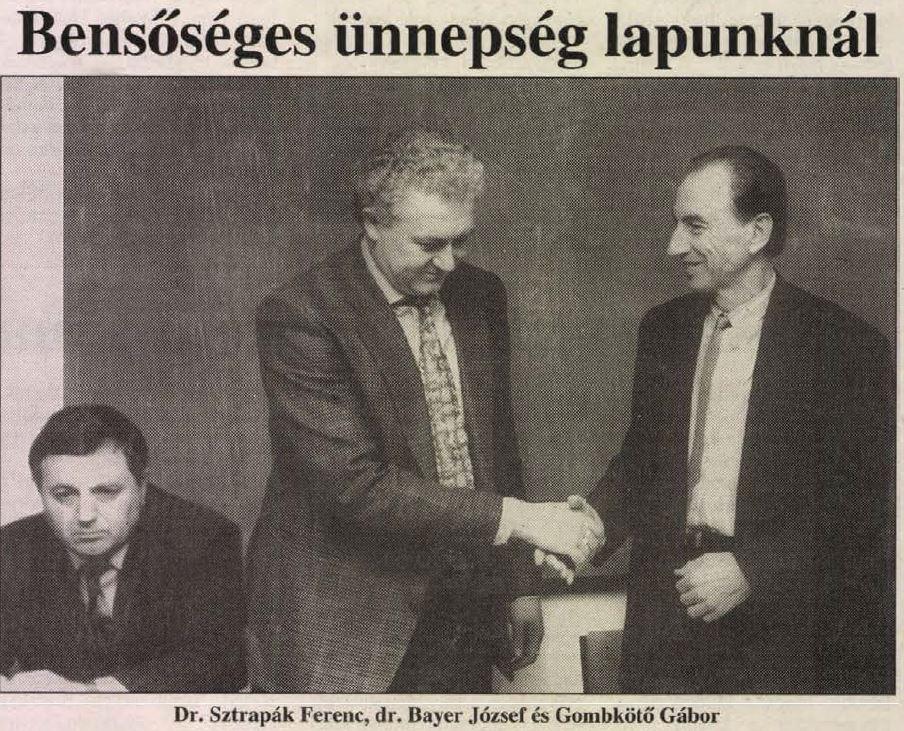 Bayer József és két hű újságírója / Forrás: 24 óra/ Arcanum.hu