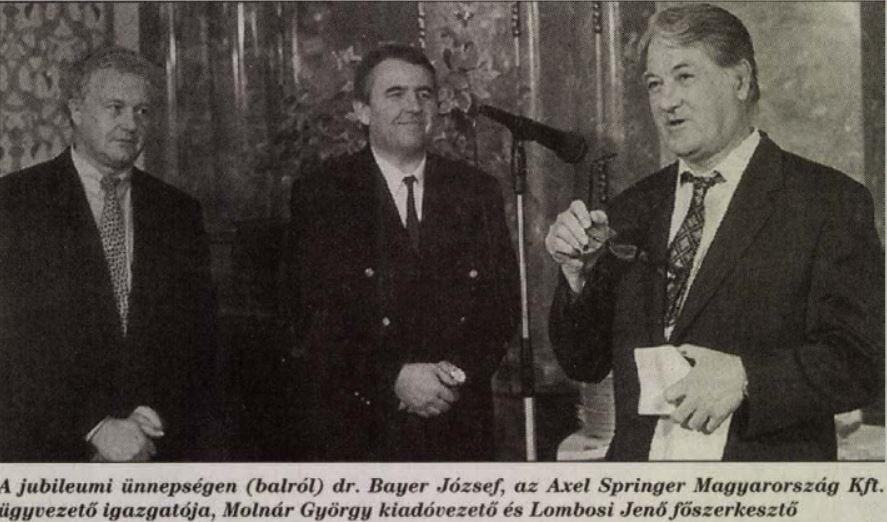 Újabb ünnepség. Bayer balra, Lombosi jobbra / Forrás: Arcanum.hu