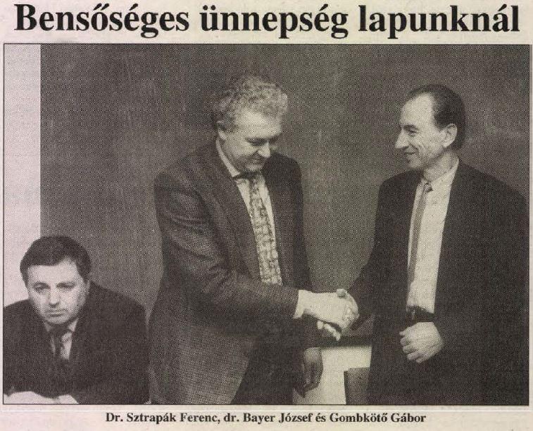 Posztkommunista főszerkesztők cseréje, középen a bábmester Bayer József / Forrás: 24 Óra, Arcanum.hu