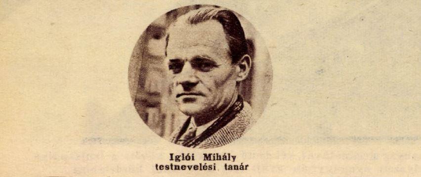 Iglói Mihály a fenti cikkben / Forrás: Arcanum.hu