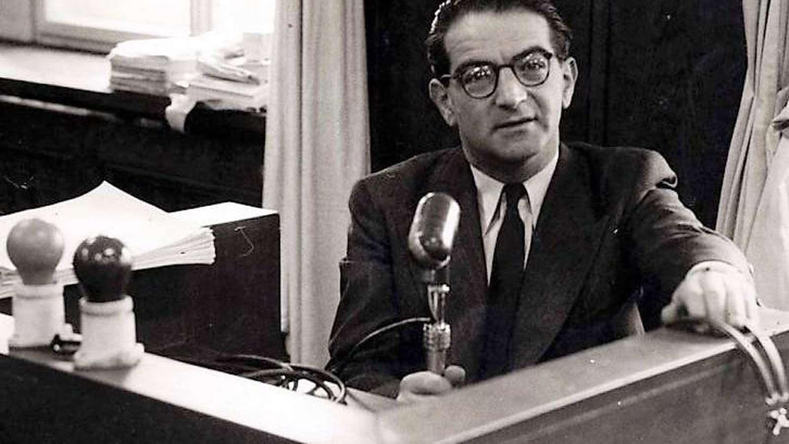 Kasztner Rezső az Israel Rádióban / Fotó: SciencePole.com