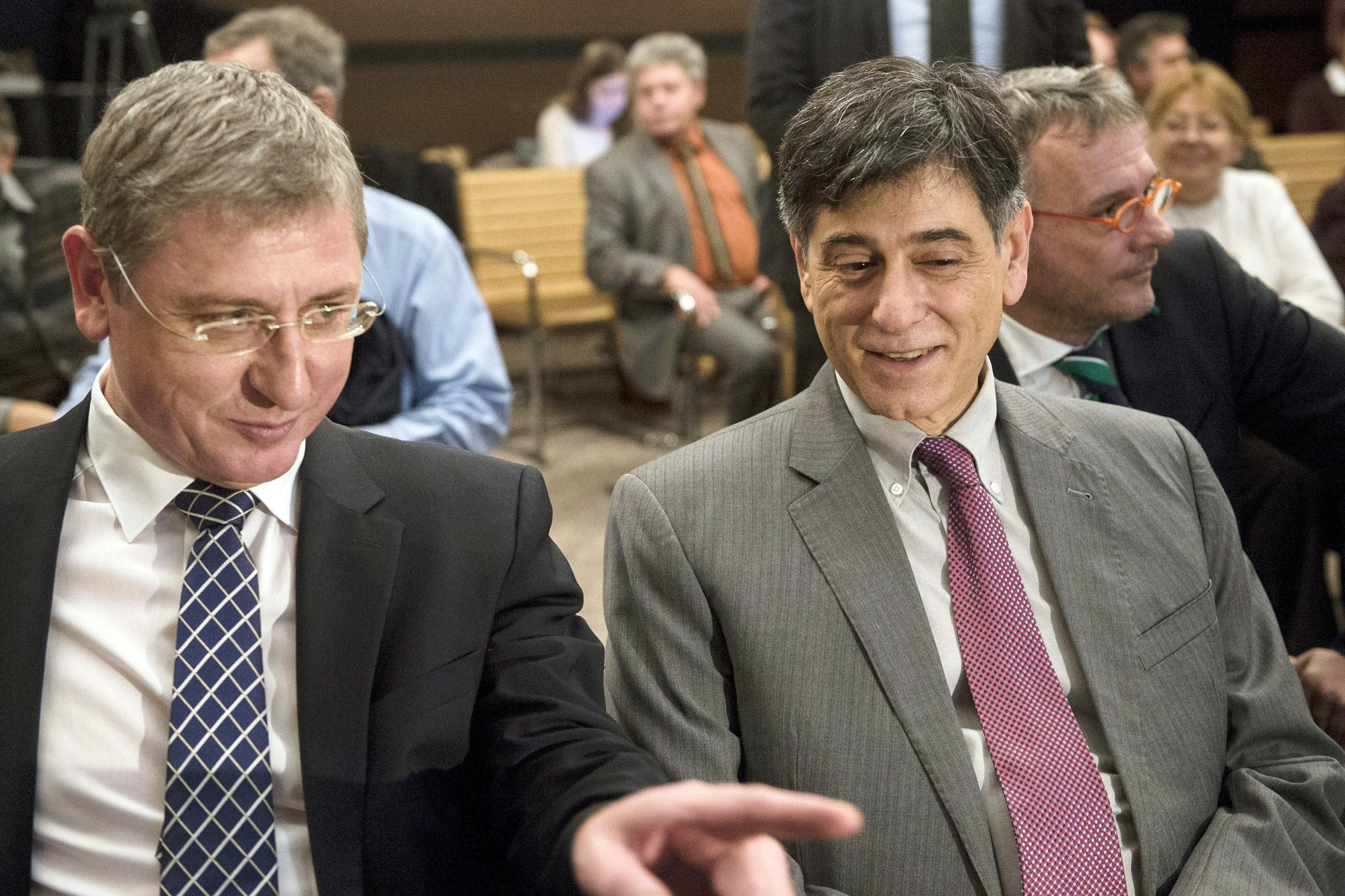 Gyurcsány Ferenc, a Demokratikus Koalíció (DK) elnöke, volt miniszterelnök (b) és André Goodfriend / Fotó: MTI