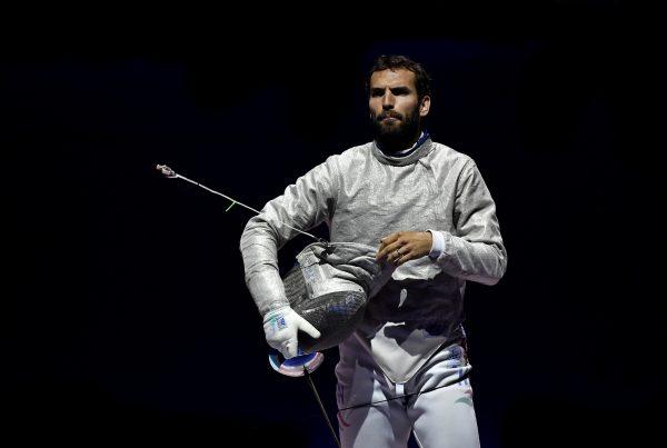 Szilágyi Áron kardvívó 2016-ban Rióban megvédte négy évvel korábban szerzett olimpiai bajnoki címét! MTI/Illyés Tibor