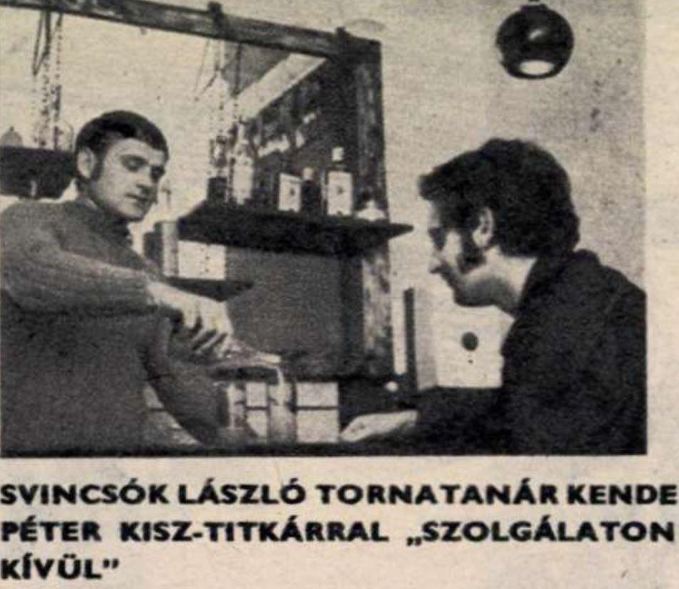 Kende KISZ-titkár iszik, propagandacikk az Ifjúsági Magazinban, 1974 / Forrás: Arcanum.hu