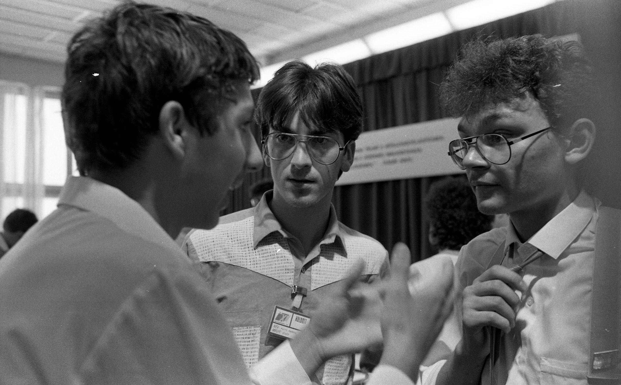 KISZ-kongresszus, már 1986-ban. /Forrás: Fortepan.hu. A fotót készítette és adományozta: Urbán Tamás