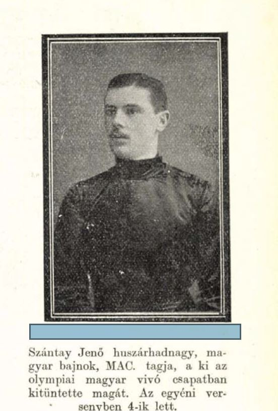 Szántay Jenő fényképe a Tolnai Világlapban (1908) / Forrás: Arcanum.hu